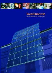 Buchcover Solarindustrie
